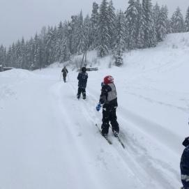 Bjønndalen skianlegg ligger 100 meter bortenfor barnehagen