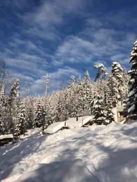 Vinterparadis for noen, vanskelige forhold for andre..